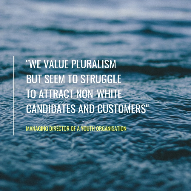 They don't come to us: We value pluralism
